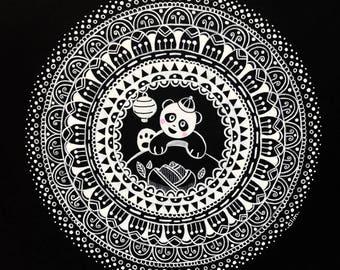 The little Panda illustration