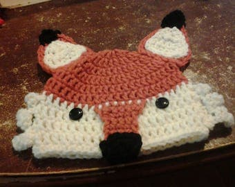 Made to order fox hat and diaper cover