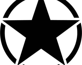 Army Star - Sticker/ Vinyl / Decal