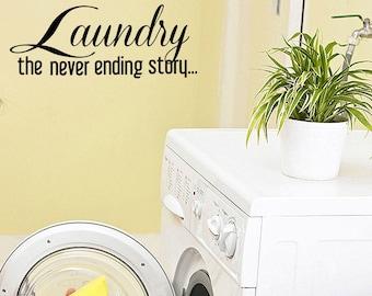 Laundry, the never ending story ... - Sticker/ Vinyl / Decal