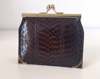 Vintage python wallet