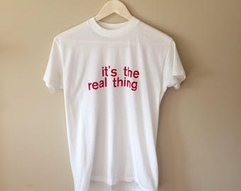 """Vintage Coca-Cola """"It's the Real Thing"""" 50/50 T Shirt"""