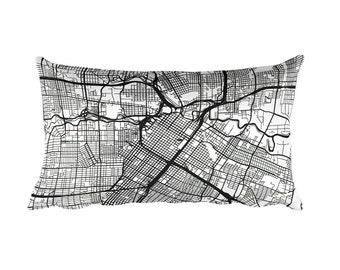 Houston Pillow, Houston Decor, Houston Throw Pillow, Houston Gift, Houston Map, Houston Art, Houston Texas, Houston Throw, Houston Cushion