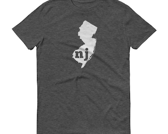 New Jersey Tshirt, New Jersey, New Jersey Shirt, NJ Shirt, New Jersey Tee, State Pride, New Jersey Gifts, State, Map, Shirt, TShirt, Tee