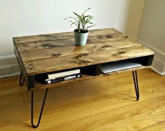Pallet Style Coffee Table, Rustic Coffee Table, Pallet Coffee Table, Hairpin Leg Table, Industrial Coffee Table