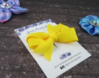Pinwheel Hair Bow Clip - Yellows