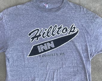 VTG Hilltop Inn Ephrata, PA Heather T-Shirt Soft Size M/L