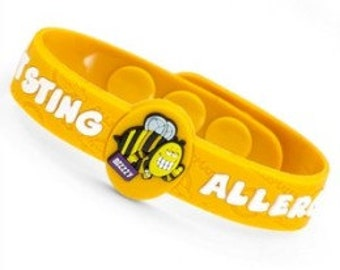 """Medical ID """"Insect Sting Allergy"""" Kids Bracelet Fits 4 1/2 - 6 inches"""
