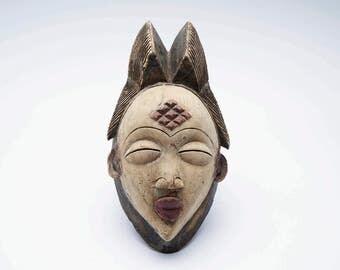 Antique African Female Mask, Tribal art, African mask, vintage  African mask, African female mask, African art, African scuplture