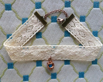 Unique Lace Crystal Choker / MADE TO ORDER