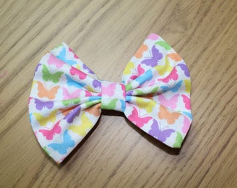 Pastel Butterfly Hair Bow