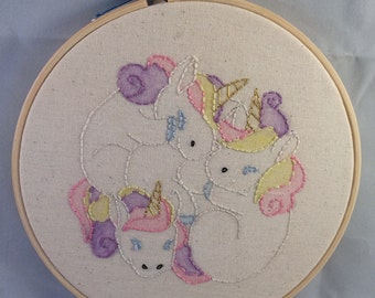 Unicorn Embroidery Hoop. Home Gift. Childrens Gift. Hanging Wall Art.