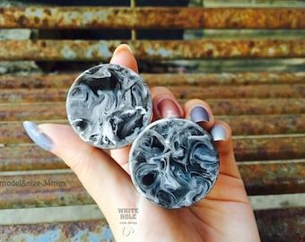 Plugs-Custom Plugs-Smoke Plugs-Resin Plugs[Black Transparent & White Smoke]-Made To order