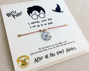 Platform 9 3/4 Wish Bracelet, Harry Potter 9 3/4, Harry Potter Jewelry, Hogwarts Express, Harry Potter Party, Harry Potter Kids, 9 3/4 Charm