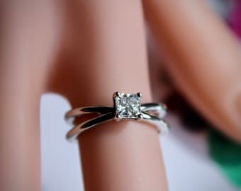 Birthstone April Diamond Ring, Diamond Engagement Ring, Diamond Birthstone Engagement Ring, Diamond Ring, Birthstone Ring, Engagement Ring