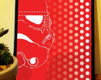 Star Wars Inspired Stormtrooper Modern Art Digital Print