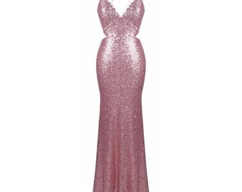 Backless Prom Dress Etsy