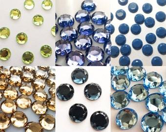 Ø 10 mm round rhinestones sewing-2 holes-rhinestones
