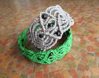 Macrame Bracelet/Anklet with Beads