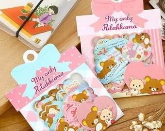 Confezione 60 stickers Rilakkuma super kawaii!