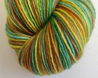 Lime Zinger 4ply Wool Hand Dyed Yarn 100g Knitting Wool