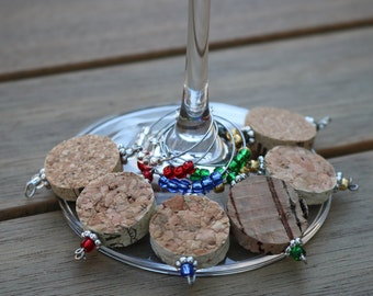 Mixed Cork Wine Charms by First Pour Wine