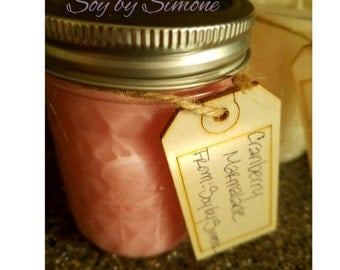 Cranberry Marmalade Scented Soy Candle