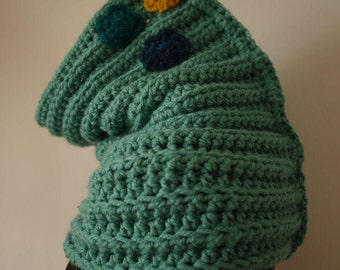 Cozy scarf in turquoise