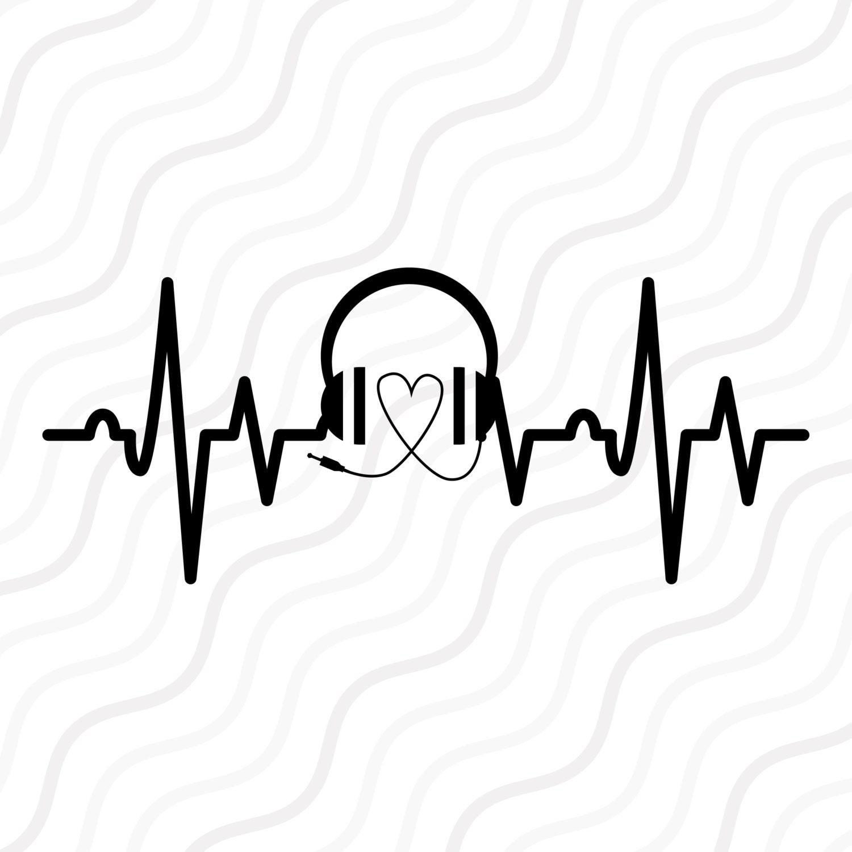 Music Heartbeat SVG Music SVG Heartbeat SVG Cut Table
