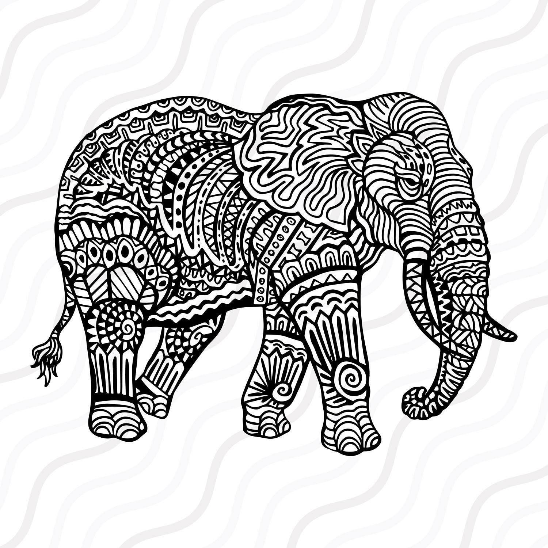 Ethnic Elephant SVG Mandala Elephant SVG Elephant SVG Cut