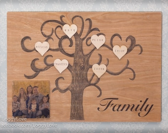 Wooden Family Tree, Personalised Family Tree, Custom Family Tree, Mothers Day, Family Tree Gift, Family Tree