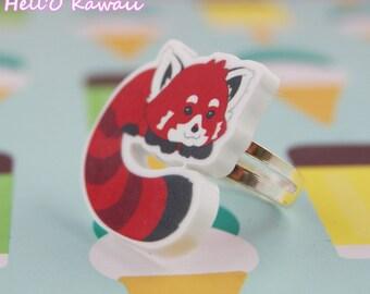 Bague Panda roux tout choux