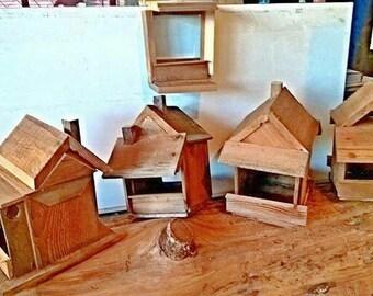 Cedar bird feeders