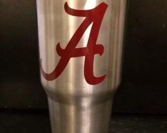 "University of Alabama Crimson Tide Script  ""A"" Ozark Trail  20 oz & 30 OZ Tumbler NEW now in White"