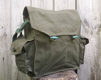 Haversack, Canvas backpack, Messenger bag, Vintage haversack, Military Bag, Canvas crossbody bag, Crossbody bag, Soviet canvas bag