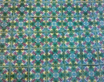 MEXICAN TALAVERA TILES X 50 (5cm x 5cm each )