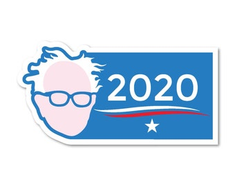 "Bernie Sanders for President 2020 7""x3.5"" bumper sticker decal"