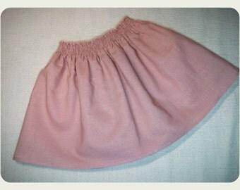Linen Girl Skirt, Pink Skirt, Baby Skirt, Toodlers Skirt, Linen skirt, Handmade  for Casual and Formal events