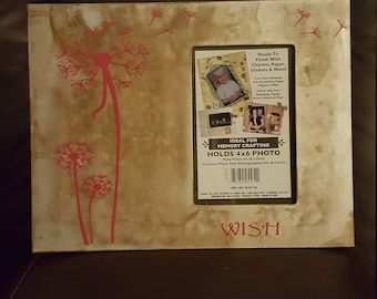 Wish Pink Girls Picture Frame