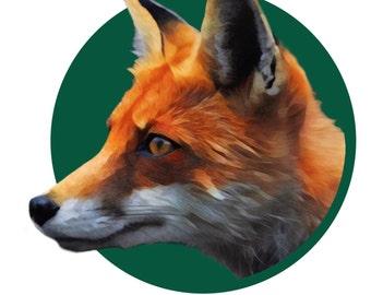Funny fox print // fox artwork // animal artwork // digital prints // fox gifts under 20