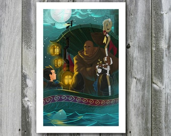 Garrison and Michael the Archangel – 13x19 Art Print