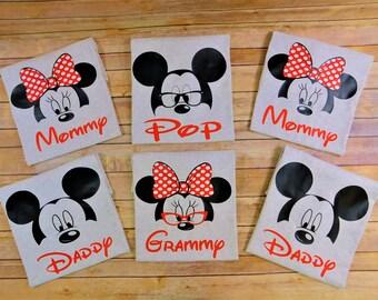 Disney Family shirts, Disney matching, Family custom shirts, disney shirt with name, disney cruise, Grandparents shirts,
