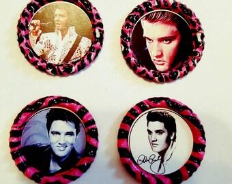 Elvis magnets. Set of 4