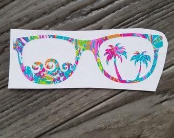 Sunglasses Vinyl Decal
