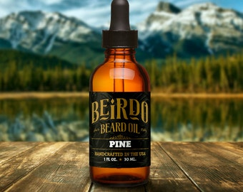 Beard Oil / Pine scent / natural oils / beard balm / manly scent / beard care / gifts for men / gifts for him / mens grooming / Beirdo
