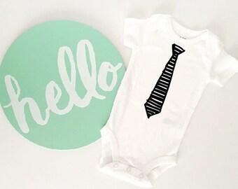 Baby Boy Tie Bodysuit // Baby Shower // Newborn // Infant