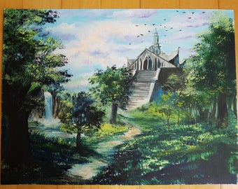 ORIGINAL Oil Painting (The Lost Temple)