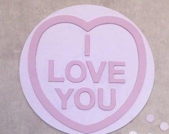 Giant retro love heart plaque