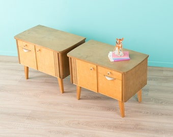 2 x 1950 night table, chest of drawers, 60s, vintage (508057)