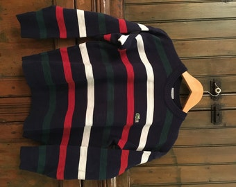 VTG Lacoste Stripe Sweater (S)